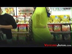 Japanese babe gets ogled