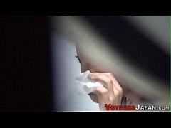 Asian spied on fingering