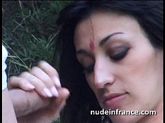 Amateur french milf rides a cock with her ass o...