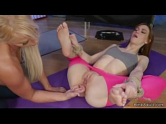 Yoga lesbians anal gaping and fisting