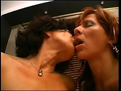 Lucky guy gets cock sucked by two mature sluts