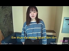 [uncen   vietsub] Young Pretty Asia girl first ...