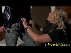 Italian Beautiful mommy fucks with son at home