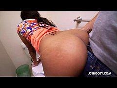 Bubble butt ebony chick Zoey Reyes gets fucked
