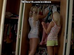 2 hot blondes in amazing threesome