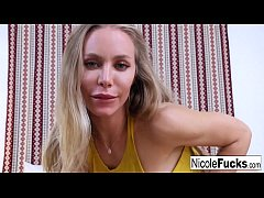 Hot Nicole gets some good dick while telling he...