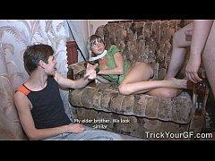 Trick Your GF - Slut Gina Gerson enjoys surpris...