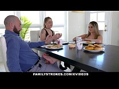 FamilyStrokes - Muscle Dad Pounds His Hot Ass S...