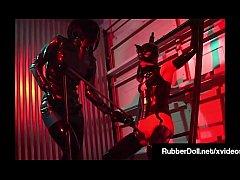 Busty Latex Dom RubberDoll Binds & Pleasures Sl...