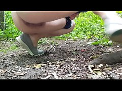 ANAL FUCKING in the Park with beautiful babe Ev...