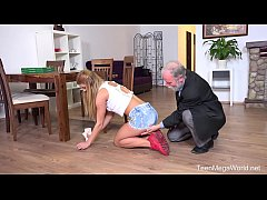Old-n-Young.com - Chrissy Fox - Old man pays a ...