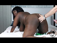 Big TEEN ebony Barbie Crystal taking abuse - in...