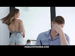 FamilyStrokes - Hot Body Stepsis Seduces Brothe...
