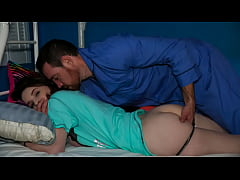 Clip sex Stepdaddy Fucking His Stepdaughter in Night | Kelsey Kage, Lily Moon