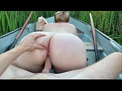 Real outdoor sex in a boat on the lake | 4K POV