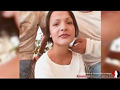 Cute young girl gets facial after first DP!