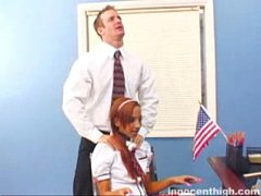 Cute Veronica Vega blows her teacher to get out...