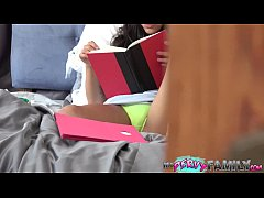 Horny Teen Lets Pervert Step-Brother Watch Her