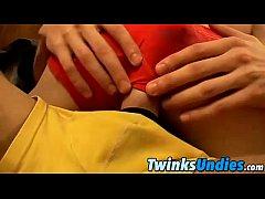 Twinks Brendan and Ryan swap undies and lick an...