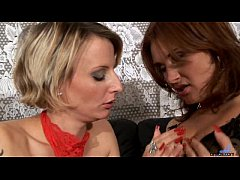 Valentine Rush lesbian scene with strap on dildo