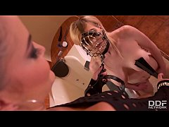 Watch dominatrix Dolly Diore humiliate blondie ...