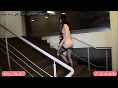 Undressing at movie theatre stairways. Caught!