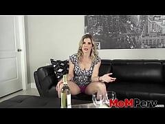 Stepmom MILF Cory Chase drinks before taboo dog...