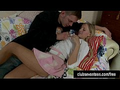 Pigtailed teen Kelsie gets ass fucked and facia...