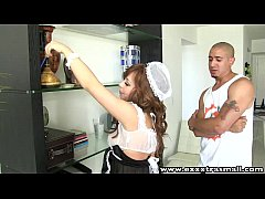 ExxxtraSmall Petite housemaid shaved pussy hard...