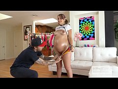Pregnant babe Indica Monroe has rough hookup with Bryan Gozzling