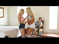 HD - PornPros Two teen blondes bounce on the cock
