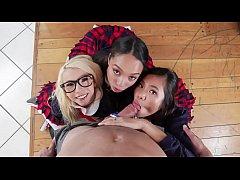 Three High-School Girls Share Professor's Big D...