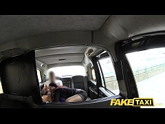 Fake Taxi Secretary looking lady with huge tits...