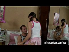 Teen Yulia gives head and gets facialized