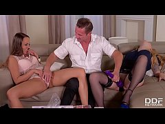 Lucky studs bangs Misha Cross and Blue Angel in...