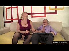Mature Blonde Cala Craves Sucks a Thick Cock an...