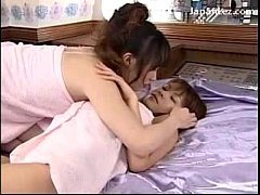 2 Girls In Towels Kissing Rubbing Breasts On Th...