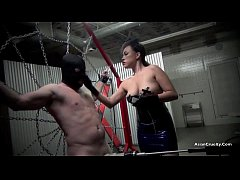 RESTRAINED AND DRAINED The Milking Of A Male Sl...