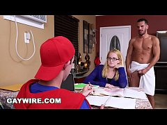 GAYWIRE - Step Dad Helps His Son Study, Gets Ca...