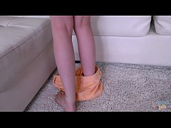 CUTE GIRL STROKES OFF STEP BRO to get him to LI...