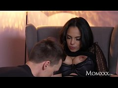 MOM Kinky big tits Latina MILF in stockings sus...