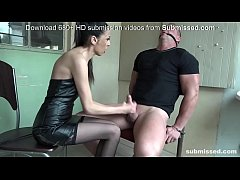 Bound man submissed by European domina! Great F...