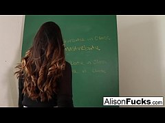 Naughty Masturbating School girl Alison Tyler h...