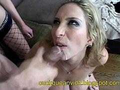 cuckquean masturbate watching her man fuck her ...