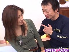 Nana Nanami gets cocks in mouth and hairy cunt ...