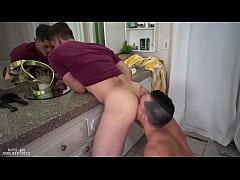 Hot guy hard fuck his friend in bathroom