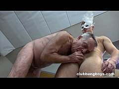 Old stepdad sucks his stepson's dick and gives ...