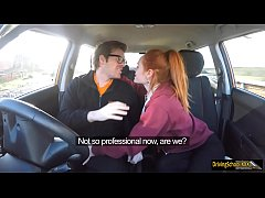 Redhead Ella Hughes swallows hot cumload