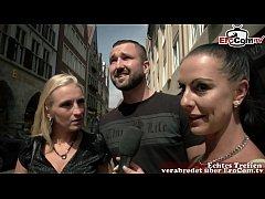 Deutsches Paar macht Pornocasting in Münster zu...
