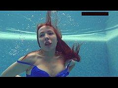 Lina Mercury hot underwater naked teen